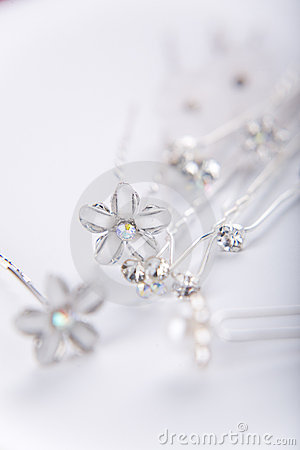 Free Silver Wedding Pins Royalty Free Stock Photography - 4199887