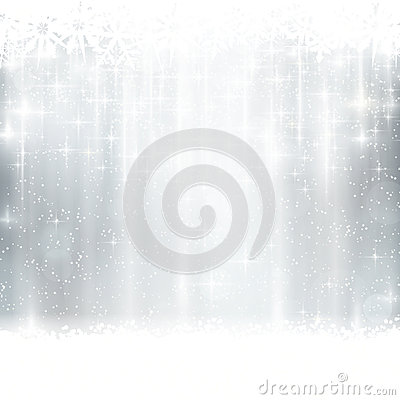 Free Silver Winter, Christmas Background With Light Effects Royalty Free Stock Photography - 44700257