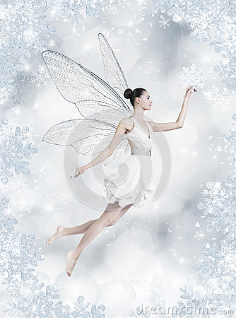 Free Silver Winter Fairy Royalty Free Stock Photography - 27802147