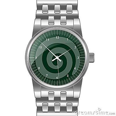 Silver wrist watch