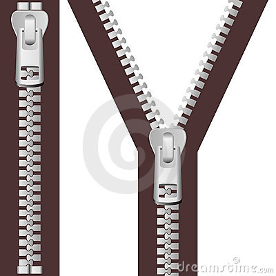 Silver Zipper Set
