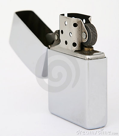Free Silver Zippo Lighter Royalty Free Stock Photography - 1159067