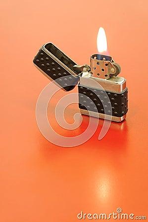 Free Silver Zippo Lighter Stock Photo - 19905440