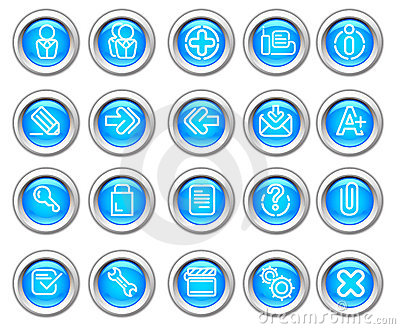 Silvero glossy icon set: Website and Internet #2
