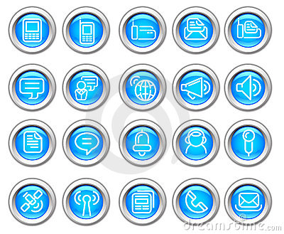 Silvero glossy icon set: Wireless communication