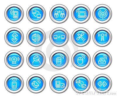 Silvero Glossy Icon Set: Wireless  Device Royalty Free Stock Images - Image: 9024419