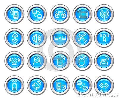 Silvero glossy icon set: Wireless  Device