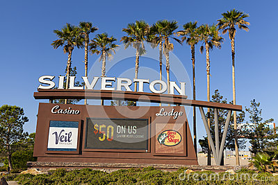 Silverton Casino Sign in Las Vegas, NV on May 18, 2013 Editorial Photo
