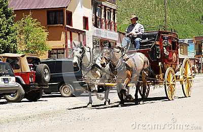 Silverton Stage Coach Editorial Stock Photo