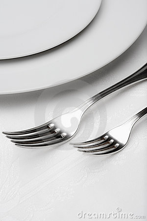 Silverware - closeup of forks