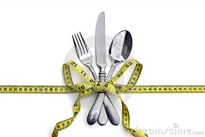 Silverware and measuring tape