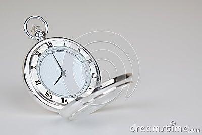 Silvery classic watch