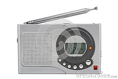 Silvery tiny radio