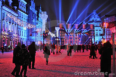 Silvester Eve in Wroclaw Editorial Stock Photo