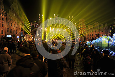 Silvester Eve in Wroclaw 2011 Editorial Stock Image