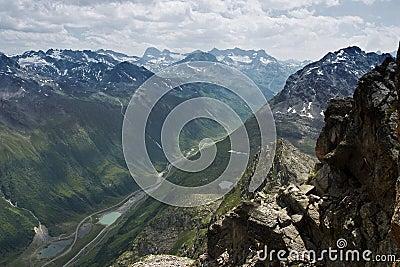 Silvretta mountain range