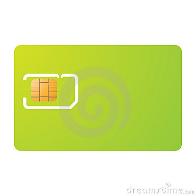 Sim card and carrier template