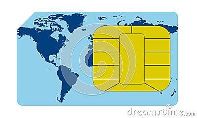 Sim card concept
