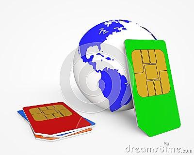 SIM card .Global Communications