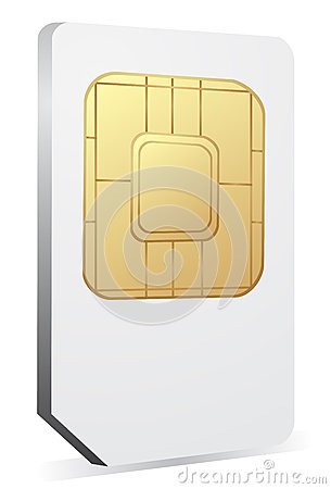 Sim card icon. Vector