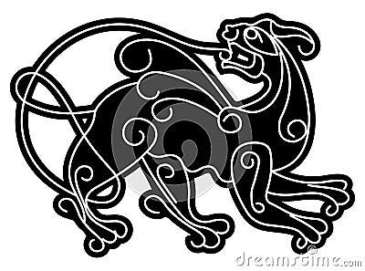 Simargl. Slavic mythical deity.