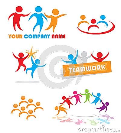 Simboli di lavoro di squadra