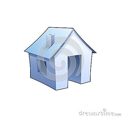 Simbolo del homepage del Internet - icona dettagliata della casa blu