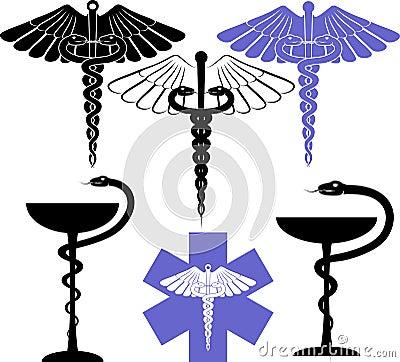 Simbolo della farmacia e medico