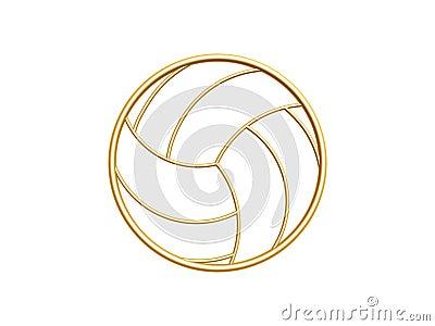 Simbolo dorato di pallavolo