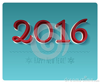 Simbolo variopinto del buon anno 2016
