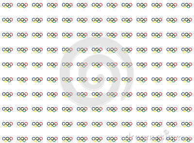 Simbols of olympics games pattern. rings on white backgrounds