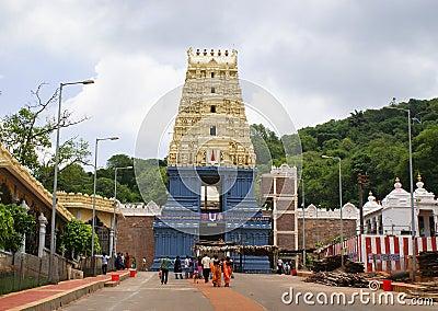Simhachalam temple, Andhra Pradesh Editorial Stock Photo