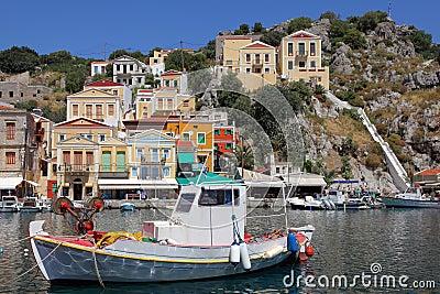 渔船在Simi港口