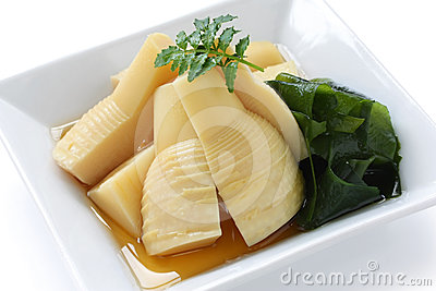 Simmered bamboo shoots