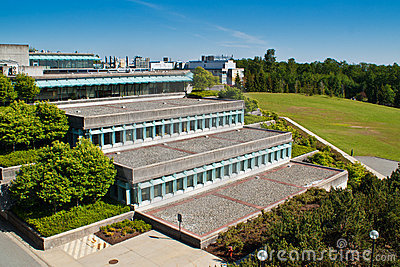Simon Fraser University in Vancouver, BC, Canada Editorial Photography
