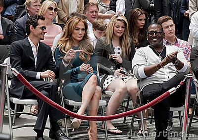 Simon Fuller Hollywood Walk of Fame Star Ceremony Editorial Stock Image