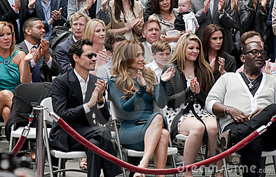 Simon Fuller Hollywood Walk of Fame Star Ceremony Editorial Photo