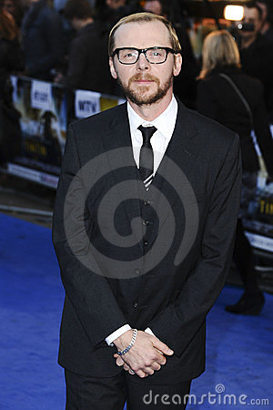 Simon Pegg Editorial Stock Image