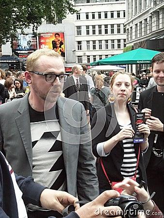Simon Pegg At Scott Pilgrim Vs The World Editorial Image