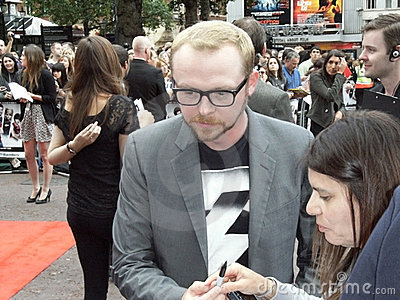 Simon Pegg At Scott Pilgrim Vs The World Editorial Photo
