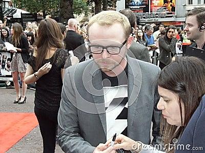 Simon Pegg At Scott Pilgrim Vs The World Editorial Photo