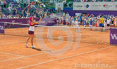 Simona Halep BRD OPEN WTA Editorial Photo