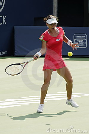 Simona Halep playing the Rogers Cup 2011 Editorial Photo