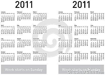 Simple 2011 Calendar