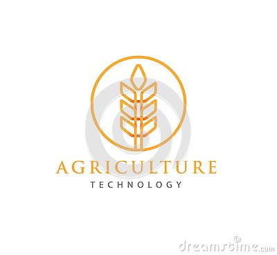 Free Simple Agriculture Technology With Abstract Wheat Symbol Logo Design Stock Photos - 124967163