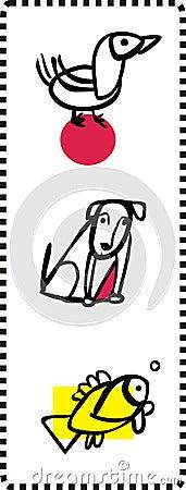 Simple Animal Illustrations