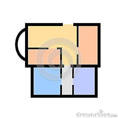 Simple apartment blueprint vector