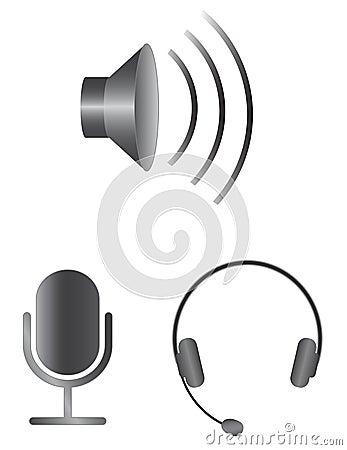 Free Simple Audio Icons Stock Photos - 30018153