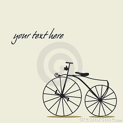 Simple background with a bicycle