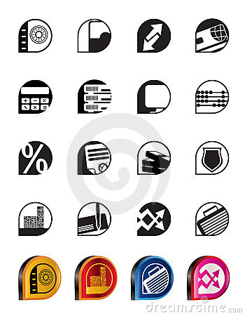 Simple bank, business, finance and office icons